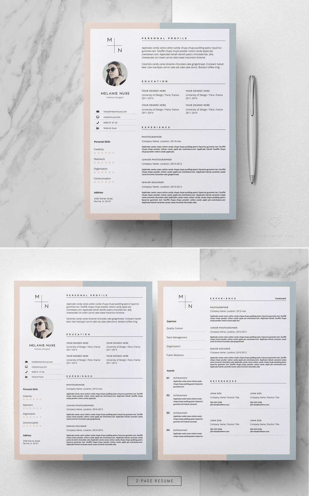 Resume Template _ Creative Resume Template for MS Word _