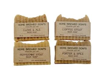Beer Soap - Beer Soap Gift Set - Stout Soap - Clove Soap - Porter Soap - Natural Soap - Soap for Men - Beer Gifts for Men - Beer Soap