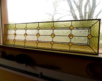 Stained Glass Sidelight or Transom - Vintage Style Sidelights