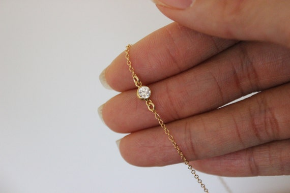 coin cz gold dainty rose il anklet listing with