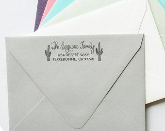 Saguaro Cactus Return Address Stamp