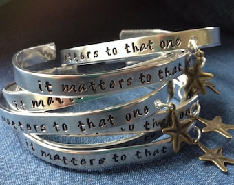 Starfish Story Cuff Bracelet-- it matters to that one