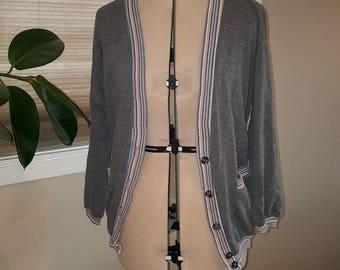Comfy Grey Cardigan Size Med