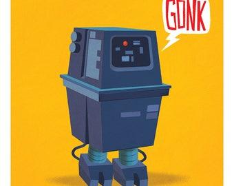 Gonk Droid 11x11 print
