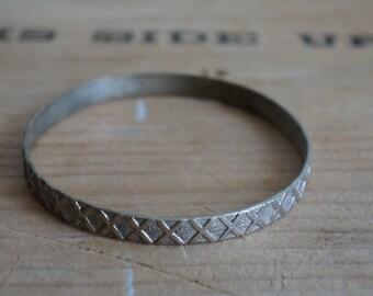 Vintage Mexico  bangle  bracelet stamped Mexico