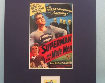 George Reeves as DC Comics Hero Superman in Superman and the Mole Men honored by his own Stamp