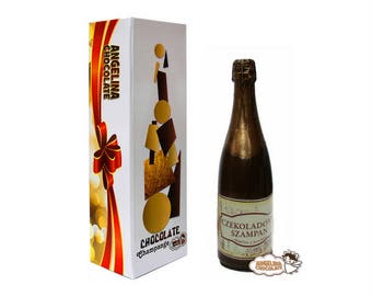festivity Chocolate bottle champagne original champagne holidays champagne gifts feast party Chocolate champagne Bottle