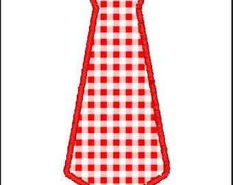 Applique Embroidery Design, Tie, Neck Tie, Fathers Day, File, Digital, Download, Machine