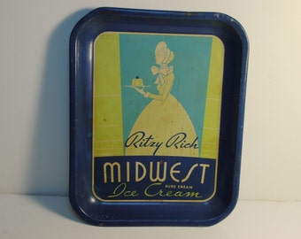 Antique Ice Cream Tray Ritzy Rich MidWest