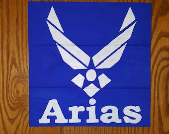 Air Force Personalized Wood Sign