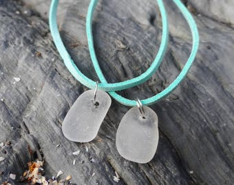 Sea glass bracelet, turquouse faux suede cord, rare beach glass, sea glass jewellery, seaglass jewelry, mermaid bracelet