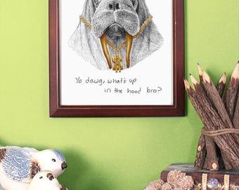 Walrus Art Poster, Walrus Illustration Art Print, Wall Hanging, Home Decor