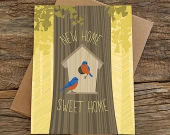 new home card / birdhouse