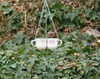 Three Cup Bird Feeder, Flowers