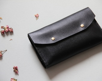 Big Leather Wallet, Wallet Clutch, Black Leather Wallet, Black Wallet, Big Wallet, Large Wallet, Women Wallet, Wallet, Wallet For Women
