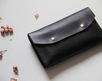 Big Leather Wallet, Wallet Clutch, Black Leather Wallet, Black Wallet, Big Wallet, Large Wallet, Women Wallet, Wallet, Wallet For Women