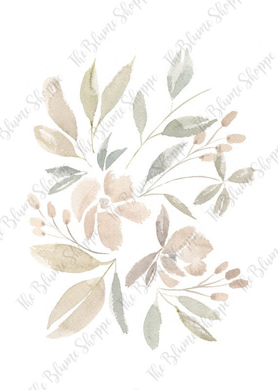 Neutral Floral Watercolor