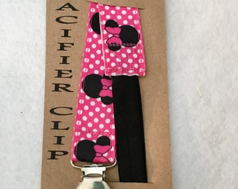 Pacifier Clip / Minnie Mouse /Your choice of many styles