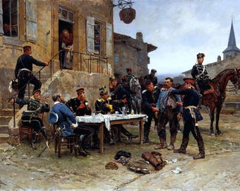 The Spy Painting by Alphonse de Neuville Art Reproduction
