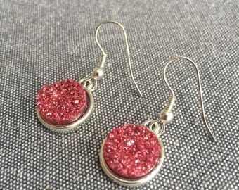 Cherry Druzy Earrings