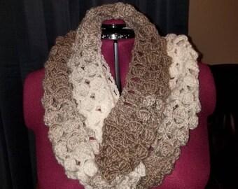 Cozy crochet infinity scarf