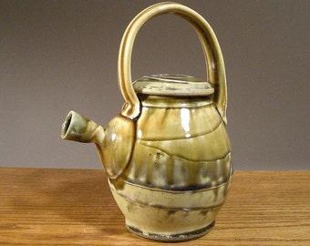 Teapot , Stoneware Teapot , Handmade Teapot ,  Pottery Teapots , slip and layered glaze decoration , Jon Whitney Pottery