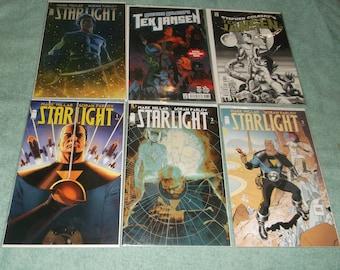 sci-fi comics-starlight-lot of 6-1990-GD