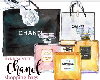 Coco Chanel perfume art Chanel clipart glam clipart planner graphics Chanel illustration Chanel printable glam clipart PrintableHenry