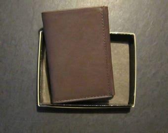 nib rolfs tri fold wallet brown leather