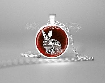 RED RABBIT PENDANT Rabbit Necklace Rabbit Pendant Rabbit Jewelry Bunny Rabbit Necklace Bunny Pendant Bunny Jewelry Bunny Necklace Gift