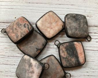 Soldered pendants etsy quick view pink gray hand soldered pendants aloadofball Images