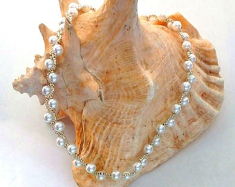 Pearl and Bead Necklace