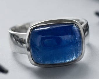 Tanzanite Silver Ring code 4072 | Natural Organic Blue Tanzanite Gemstone Sterling Silver Ring