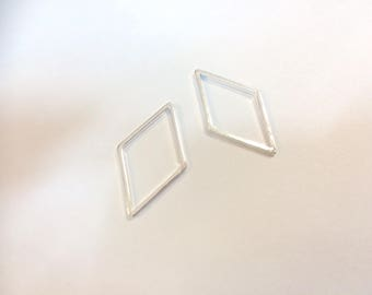 20 spacer Argyle 24x14mm silver jewelry designs