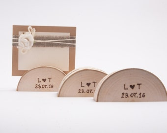 5 personalized wedding card holder, table number holder, place card holder, name card holder, name tag holder, table number stand