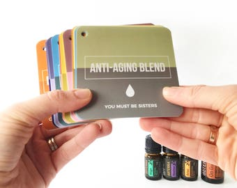 Simple and Sassy Essential Oil Flashcards - Inspired by dōTerra's Blends