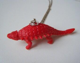 ♥ ♥ ♥ Red dinosaur pendant