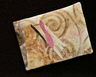 """""""04 in the series"""" the dyed-embroidered-sewn """"textile art book."""