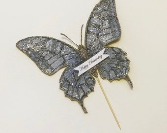 Cake Topper, Butterfly, Blue Butterfly, Birthday Cake Topper, Happy Birthday, Butterfly Decor, Personalized