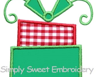 Stacked Presents Machine Embroidery Applique Design - INSTANT DOWNLOAD