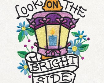 Embroidered Patch / applique - look on the birght side , sew on glue or iron on patch ANY COLOR you want