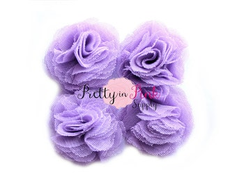 Light Purple Tulle Puffs- You Choose Quantity- Supply Shop- DIY Headband Supplies- Wholesale- By the Piece- Applique- PrettyinPinkSupply