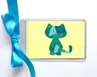 Calico Cat Luggage Tag / Bookbag Tag
