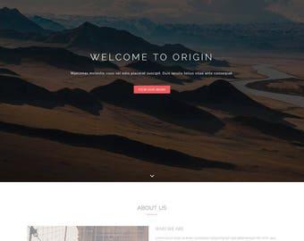 Origin - HTML Responsive Portfolio and Photography Website Template (live preview below)