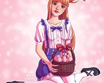 A5 print – Bunny girl