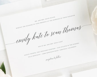 Delicate Romance Wedding Invitations - Sample