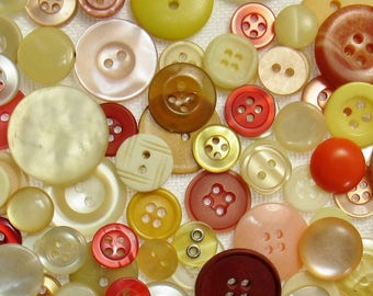 The Yellow & Orange Button Assortment: A Variety Mix of 125 Vintage to Contemporary Buttons