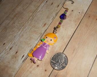 Rapunzel and Pascal Christmas Ornament // Tangled X-Mas Ornament // Princess and Chameleon Holiday Decor // Stocking Stuffer