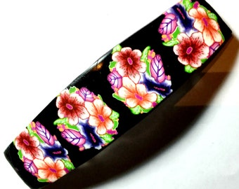 French barrette, Hair Barrette, polymer clay quality Barrette, made in france Barrette, Hair Clip Barrette,FREE SHIPPING