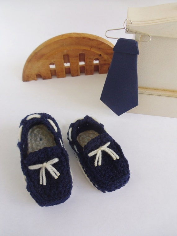 Azul navy / marino zapatos mocasines clásicos para bebé